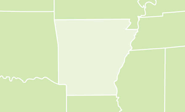 Arkansas US map