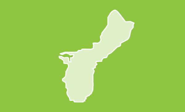 Guam US map