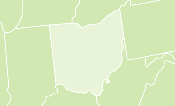 Ohio US map