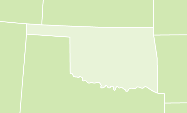 Oklahoma on US map