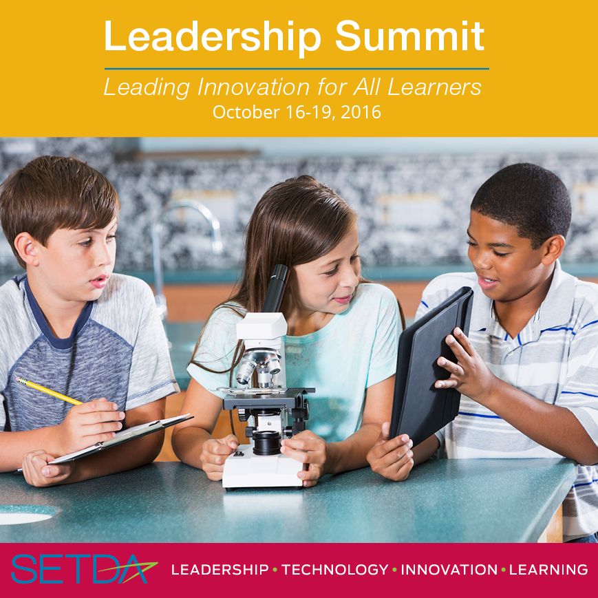 The SETDA Leadership Summit is a unique professional development and networking event with opportunities to learn from national and state educational leaders and private sector innovators, coupled with in-depth discussion and product development.