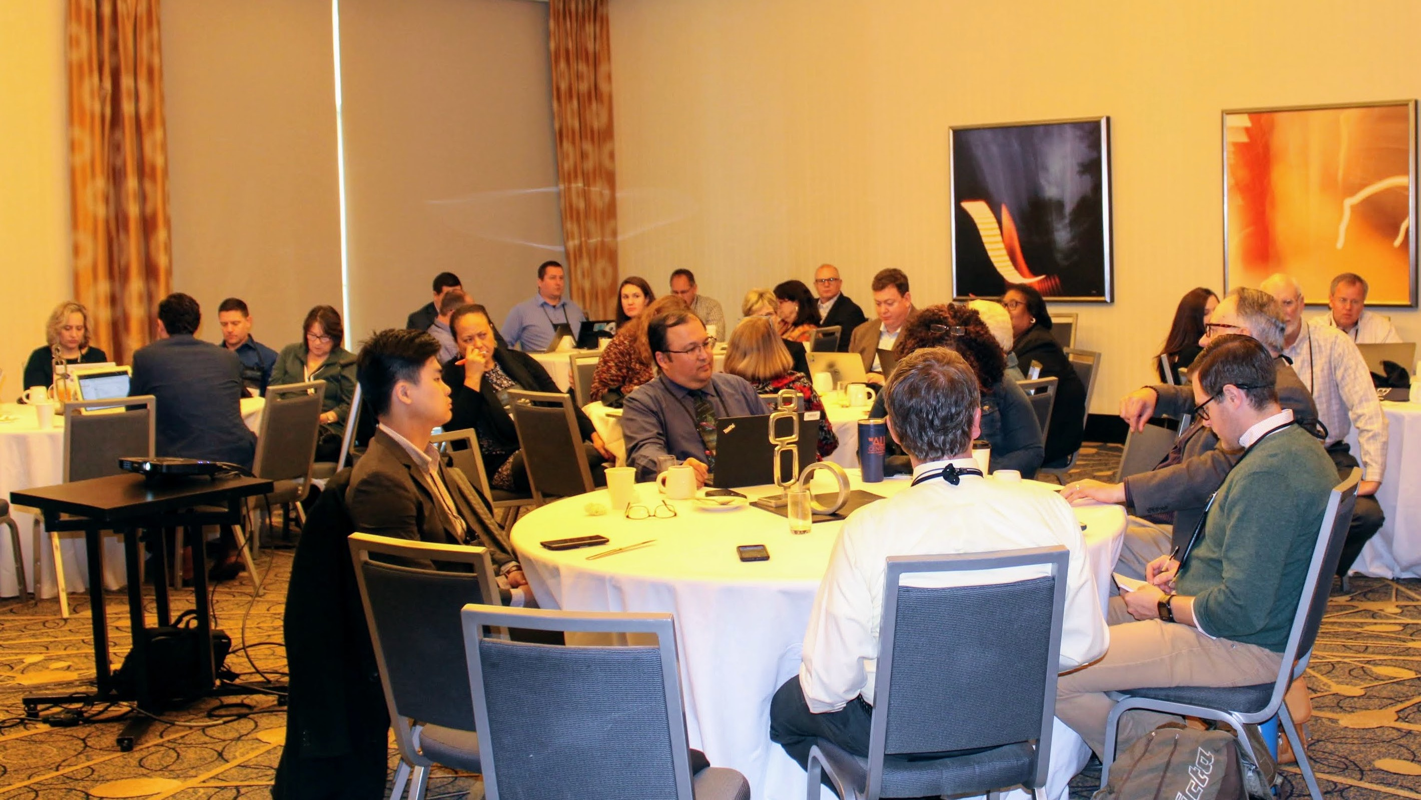 SETDA members around round table in breakout session